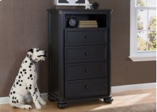 Peyton 4 Drawer Chest with Cubby - Ebony (0011)