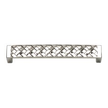 Lattice Pull 5 1/16 Inch (c-c) - Polished Nickel