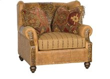 Lucy Leather Fabric Chair, Lucy Ottoman