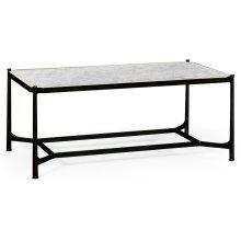 glomise & Bronze Iron Rectangular Coffee Table