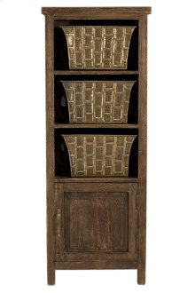 Signature 3 Basket Stand With 1 Door - Oak