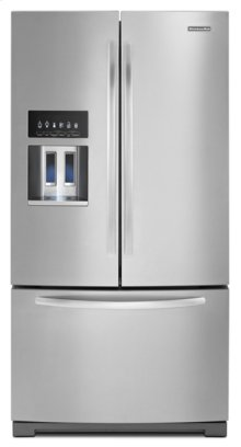 Monochromatic Stainless Steel KitchenAid® 29 Cu. Ft. Standard-Depth French Door Refrigerator, Architect® Series II