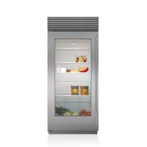 "36"" Classic Refrigerator with Glass Door"