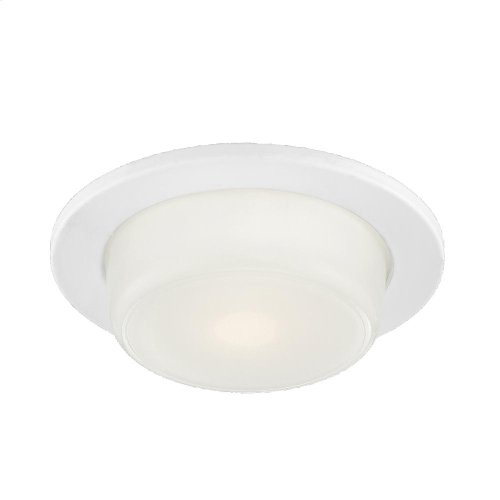 TRIM,4 INCH SHOWER DROPPED GLASS - White