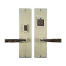 Solid Bronze Grande Manhattan Lever Mortise Entry Set in Natural White