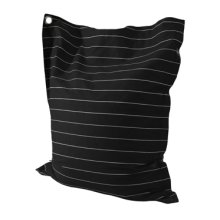 Striped Black & White Wide Pin Stripe Bean Bag