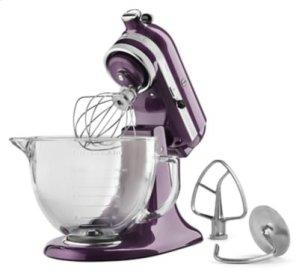 Artisan® Design Series 5 Quart Tilt-Head Stand Mixer with Glass Bowl - Plum Berry