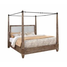 Madeline Rustic Smokey Acacia Queen Bed