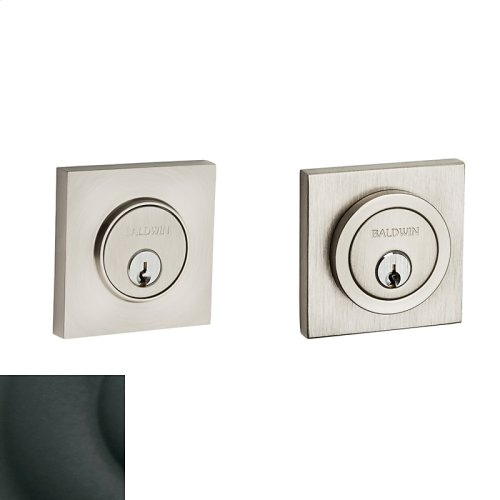 Satin Black Contemporary Square Deadbolt