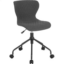 Somerset Home and Office Upholstered Task Chair in Dark Gray Fabric
