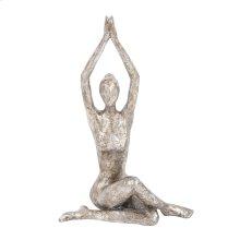 Seated Twist Yoga Pose Statue