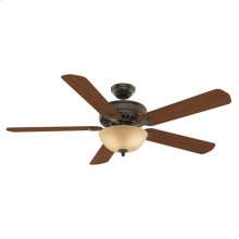 60 inch Ainsworth Gallery with Light Onyx Bengal Ceiling Fan