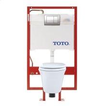 Maris® Wall-Hung Toilet & DUOFIT In-Wall Tank System, 1.6 GPF & 0.9 GPF, Elongated Bowl - Cotton