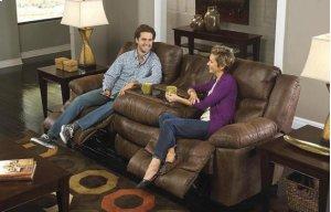 PWR Reclining Sofa w/3 Recliner & Drop Down Table - Elk