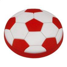 Kids Red Soccer Ball Cabinet Knob