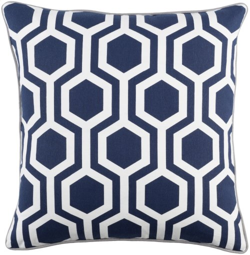 "Inga INGA-7010 18"" x 18"" Pillow Shell with Polyester Insert"