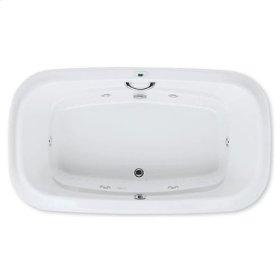"Easy-Clean High Gloss Acrylic Surface, Oval, Whirlpool Bathtub, Standard Package, 42"" X 72"""