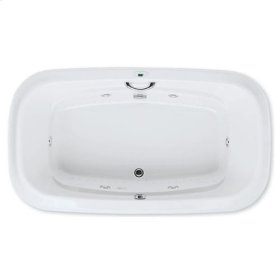 "Easy-Clean High Gloss Acrylic Surface, Oval, Whirlpool Bathtub, Standard Package, 42"" X 72"""