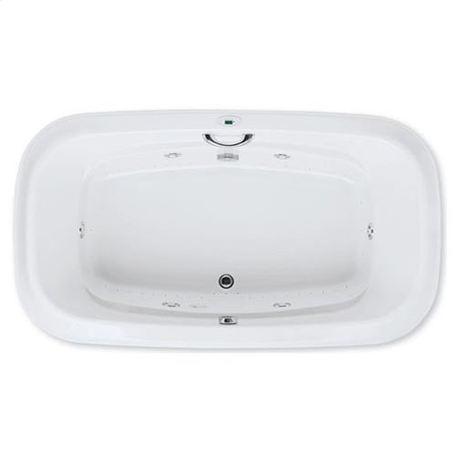 "Easy-Clean High Gloss Acrylic Surface, Oval, Whirlpool Bathtub, Signature Package, 42"" X 72"""