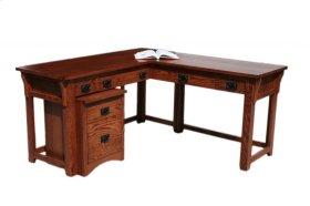 O-M371 Mission Oak Laptop Desk with Return