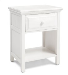 NSCG Cottage Style Nightstand in Gloss White Finish