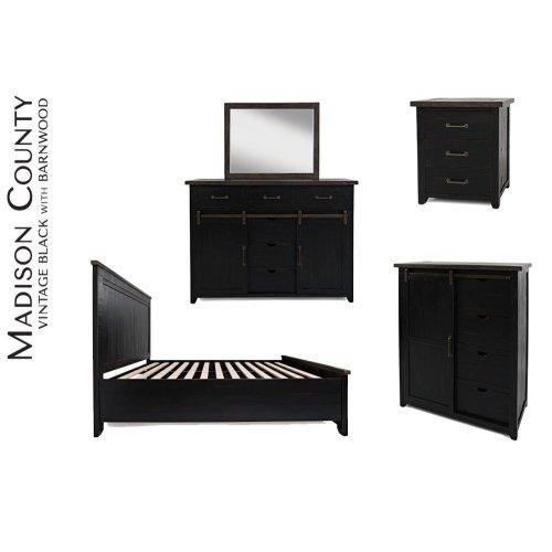 Madison County Dresser Mirror Vintage Black