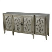 4-door Cabinet In Silver Leaf Product Image