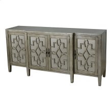 4-door Cabinet In Silver Leaf