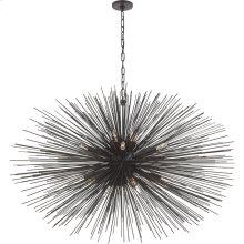 Visual Comfort KW5075AI Kelly Wearstler Strada 20 Light 50 inch Aged Iron Pendant Ceiling Light, Kelly Wearstler, Large, Oval