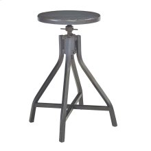French Grey Swivel Stool