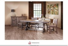 Wooden dining table top & base