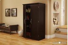 2-Door Storage Cabinet - Chocolate