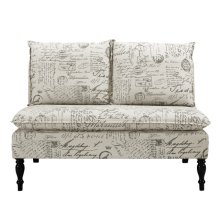 Uph 2 Pillow Back Bench - French Script