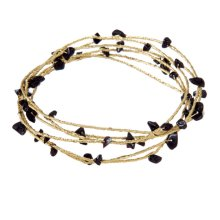 Black Beaded Wire Bangles.