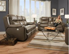 Double Reclining Sofa with Console