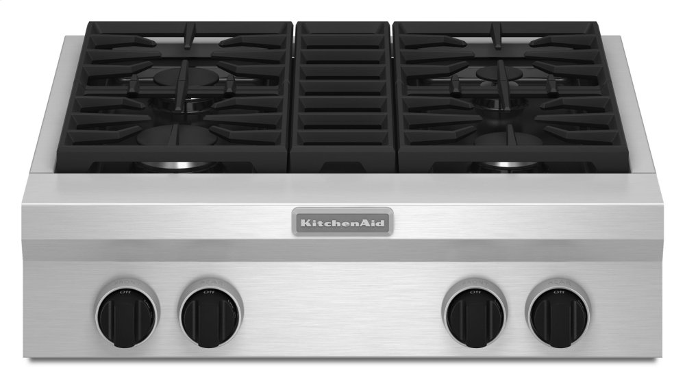 Fabulous Kgcu407Vss Kitchenaid 30 Inch 4 Burner Gas Rangetop Interior Design Ideas Tzicisoteloinfo