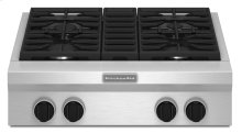 30-Inch 4 Burner Gas Rangetop, Commercial-Style - Stainless Steel