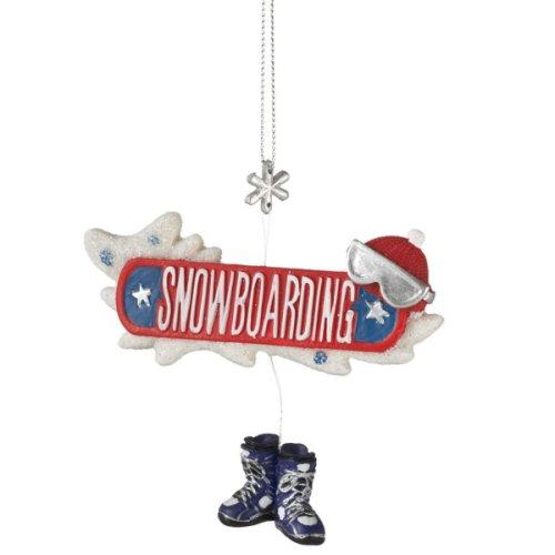 Snowboarding Ornament.