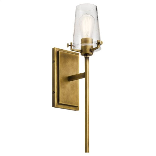 Alton 1 Light Wall Sconce Natural Brass
