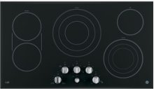 """GE Cafe 36"""" Electric Cooktop with Infinite Knob Control"""