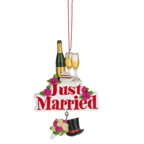 """Just Married"" Ornament."