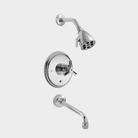 2500 Series Pressure Balance Tub and Shower Set with Regent X Handle (available as trim only P/N: 1.255468T)