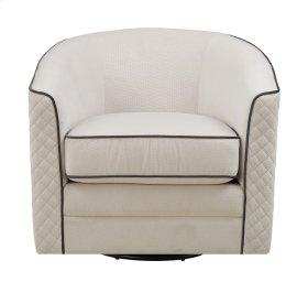 Emerald Home Roe Swivel Chair-tan W/ Charcoal Welts U3504-04-09