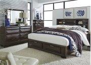 King Storage Bed, Dresser & Mirror Product Image