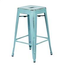 "Bristow 26"" Antique Metal Barstools, Antique Sky Blue, 2-pack"