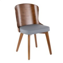 Bocello Chair - Walnut Bamboo, Grey Pu