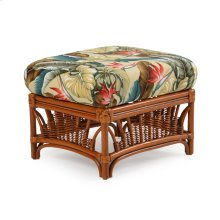 Rattan Rectangle Ottoman Pecan Glaze Satin 4409