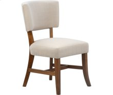 Rayna Upholstered Chair Pecan with Sand upholstery