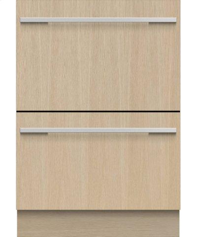 Double DishDrawer Dishwasher, 14 Place Settings, Panel Ready Product Image