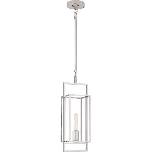 Visual Comfort S5190PN-CG Ian K. Fowler Halle 1 Light 6 inch Polished Nickel Lantern Pendant Ceiling Light, Petite